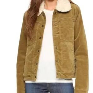 FREE PEOPLE SHERPA LINED UNCUT CORD JACKET Medium